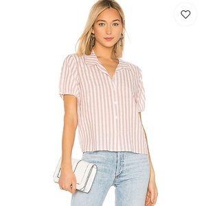 Velvet Belsey Striped Button Down Shirt Top S